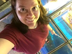 Standing on glass looking down
