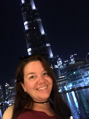 Water and music show outside the Burj Khalifa