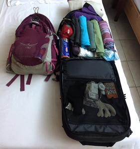 Repacking my bags in Kenya
