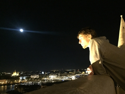 Ben enjoying the view of the city