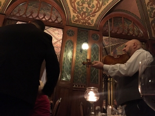 ...at the fancy restaurant with the violon player