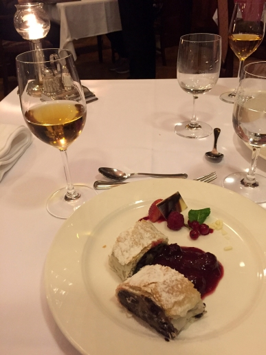 Fancy restaurant dessert