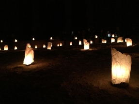 The lanterns guide the way