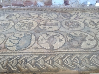 The Byzantine church is just a ruin, but it has great mosaics in the floor