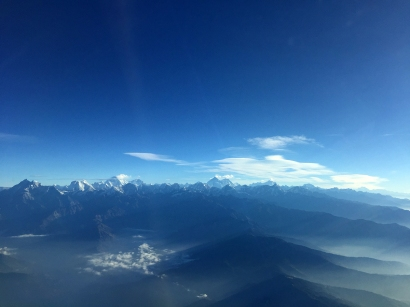 Mount Everest is the pyramid peak in the middle there