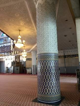 Visiting the national mosque