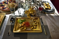 The world's most expensive food. With real gold.