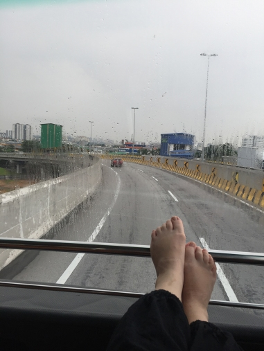 Catching the bus to Singapore