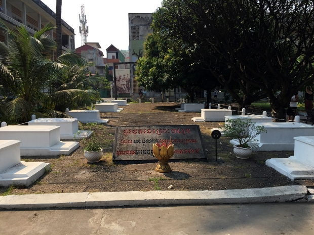The 14 graves in Tuol Sleng