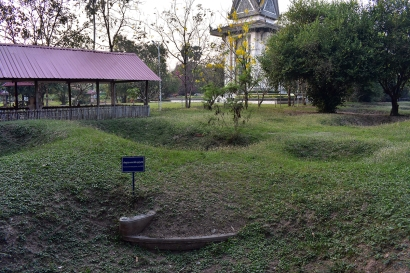 The site of a mass grave