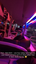 The sleeper bus to Ninh Binh