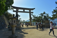 Walkway towards the shrine and The Great Torii
