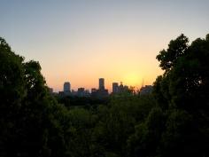 Sunset views from Osaka Castle