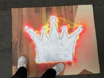 Yeah, they let me spraypaint the big crown...