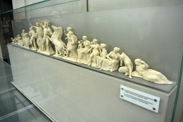 Reconstruction of the West Pediment of the Parthenon at the Acropolis Museum