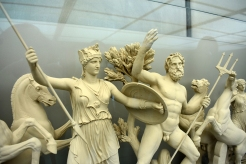 Athena and Poseidon struggle for the position of the patron god of Attica and its capital city
