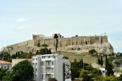 View of the Acropolis (and Parthenon) from the Acropolis Museum