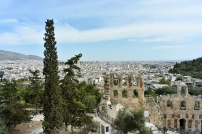 View from the way up to the Acropolis