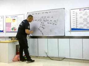 San teaching us Chinese... ish