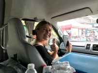 Meghan doing her visa run