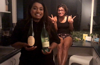 Philly, Amrita and the all important wine