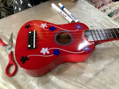 Custom decorated ukulele