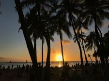 Sunsets at Waikiki Beach