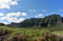 The beautiful mountain ridges of Oahu