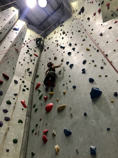 Kaitlin going up