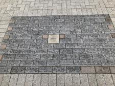 Commemorative bricks outside the entrance