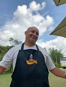 The chef at our break spot