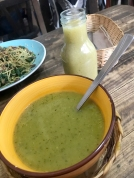 Lunch... Pea soup of some sort