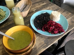 ...with rice and beans and something red and yummy